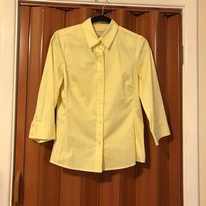 Banana Republic Stretch shirt. Size M. Yellow.